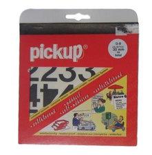 Plakcijfer stickers zwart Pick-up 30 mm