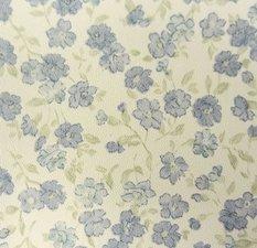 Plakfolie bloemetjesbehang blauw