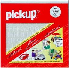 Plakletters en plakcijfers wit Pick-up 10 mm