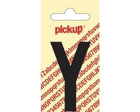 Plakletter zwart 6cm: Y