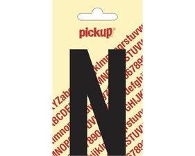 Plakletter zwart 6cm: N