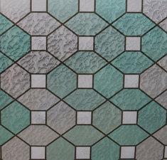 Statisch raamfolie glas in lood groen smaragd