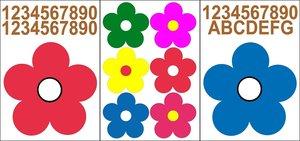 Kliko stickers bloemen
