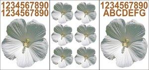 Kliko stickers flower wit