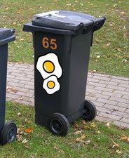 Kliko stickers gebakken ei