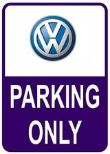 Sticker parking only Volkswagen