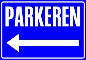 Sticker Parkeren (links)