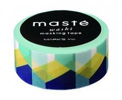 Masking tape Masté retro blokken multicolor