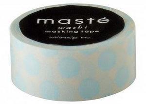 Masking tape Masté stippen blauw op lichtblauw