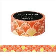 Masking tape Masté oranje Seigaiha ontwerp