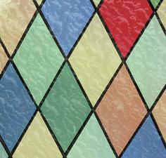 Raamfolie glas in lood (kleuren)