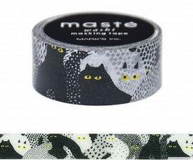 Masking tape Masté zwarte kat