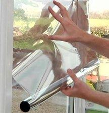 Zonwerend raamfolie voor HR++ glas (zilver) 46cm