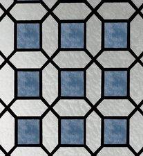 Raamfolie glas in lood blauw