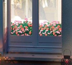 Raamfolie geranium voor HR++ glas