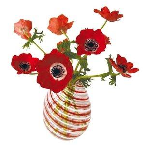 Raamsticker flat flowers anemonen rood