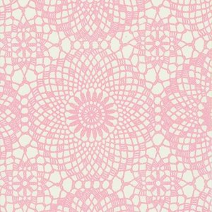 Plakfolie gehaakt patroon roze (45cm)