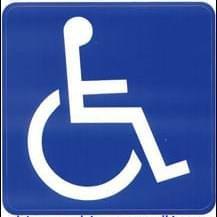 Pictogram sticker Toegankelijk voor rolstoel
