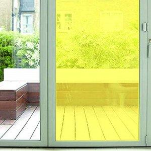 Plakfolie transparant geel (45cm)
