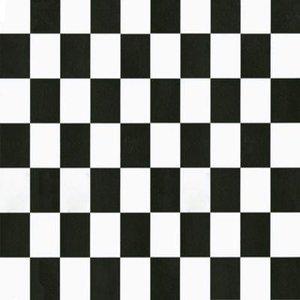 plakfolie dambord zwart wit