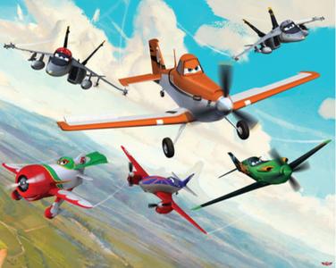 Posterbehang Walltastic Disney Planes