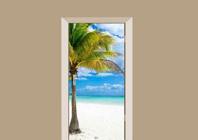 deursticker natuur palmboom