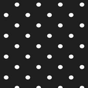 Plakfolie polkadot stippen zwart (45cm)