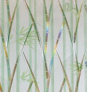 statisch raamfolie bamboe panda