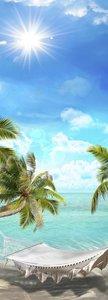 SALE: Muursticker/deursticker Hawaii 45x215cm (BxL)