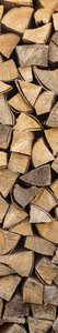 SALE: Muursticker/deursticker houtblokken 30x210cm (BxL)