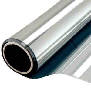 Zonwerend raamfolie voor HR++ glas zilver (90cm)