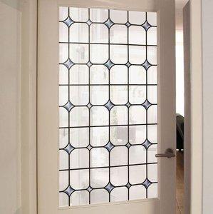 raamfolie glas in lood wit