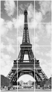 Foto tegelsticker 20x15 'Eiffeltoren Parijs' 80x45 cm hxb