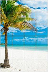 Foto tegelsticker 15x15 'Palmboom' 90x60 cm hxb