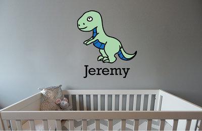 Geboortesticker Dino (met naam)