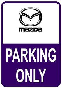 Sticker parking only Mazda