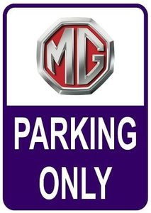 Sticker parking only MG