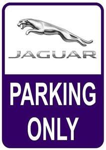 Sticker parking only Jaguar