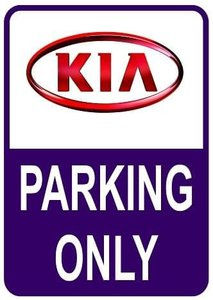 Sticker parking only Kia