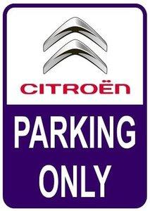 Sticker parking only Citroën