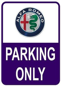 Sticker parking only Alfa Romeo