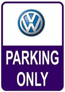 Sticker parking only Volkswagen